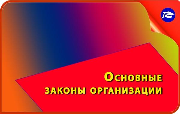 законы организации